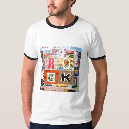 Rock collage tshirt