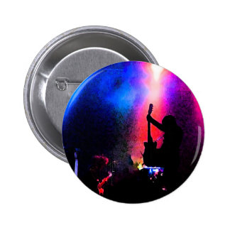 Rock Concert with Guitarist and Stage Lighting 6 Cm Round Badge