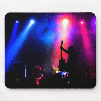 Rock Concert with Guitarist and Stage Lighting Mouse Pad