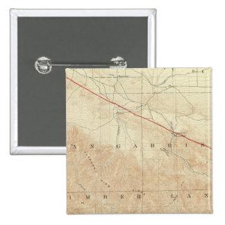 Rock Creek quadrangle showing San Andreas Rift 15 Cm Square Badge