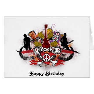 Rock! - Designer Birthday Card Greeting Card