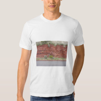Rock Fault On West Side Of Great Northern Highway, T-shirts