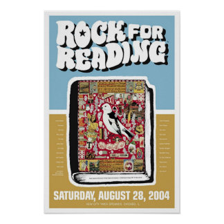 Rock for Reading Poster