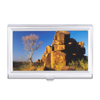 Rock Formation And Tree, Giant's Playground Business Card Holder