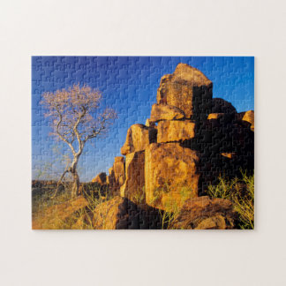 Rock Formation And Tree, Giant's Playground Jigsaw Puzzle