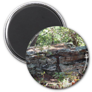 Rock Formation 6 Cm Round Magnet