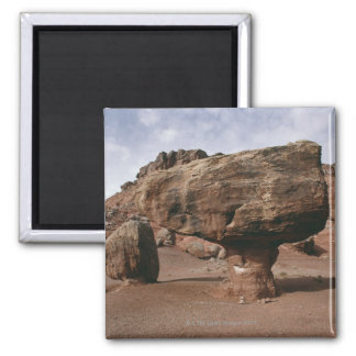 Rock formations in Marble Canyon, Utah Square Magnet