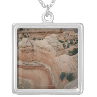 Rock formations in the Grand Canyon, Arizona Silver Plated Necklace