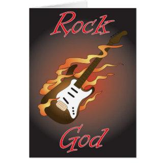rock god birthday card