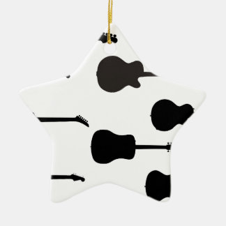 Rock Guitar Silhouettes Christmas Ornament