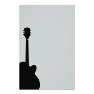 rock guitar vector customized stationery