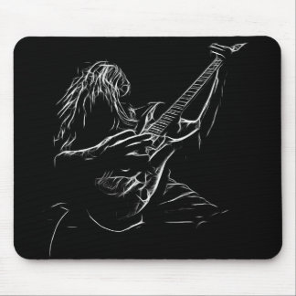 Rock Guitarist Art Mouse Mat