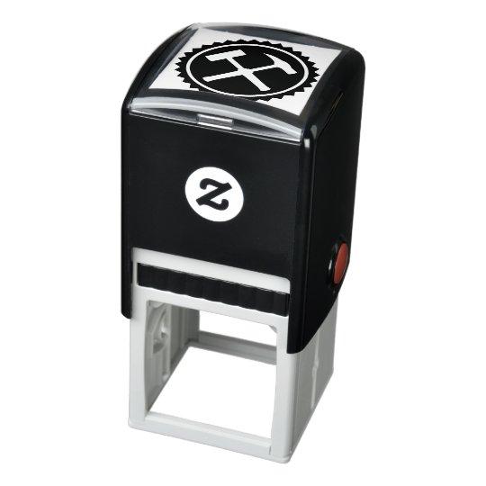 Rock Hammer Badge Self-inking Stamp