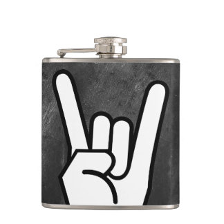 Rock Hand Hip Flask