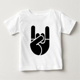 Rock Hand Stencil Baby T-Shirt
