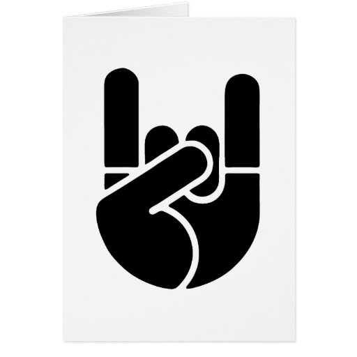 Rock Hand Stencil Greeting Cards