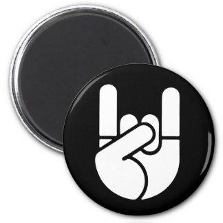 Rock Hand Stencil Magnet
