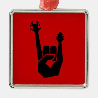 Rock hand symbol christmas ornament