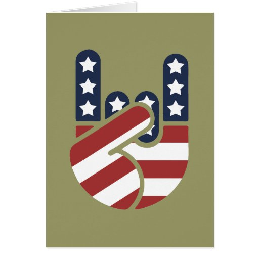 Rock Hand USA Cards