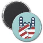 Rock Hand USA Fridge Magnets