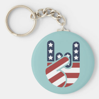Rock Hand USA Key Ring
