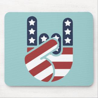 Rock Hand USA Mouse Pad