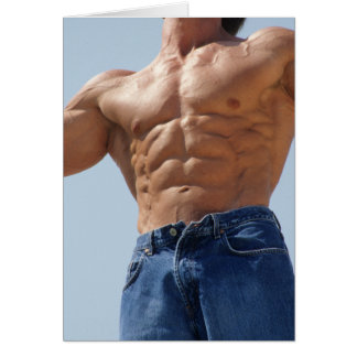 Rock Hard Abs Notecard Note Card