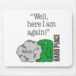 Rock/Hard Place Mouse Pad