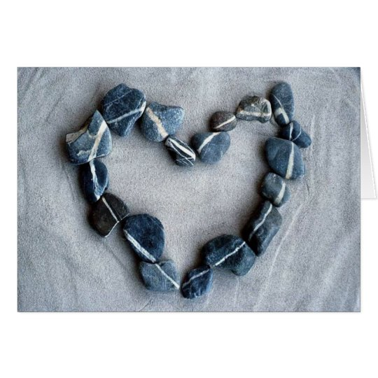 rock heart greeting card