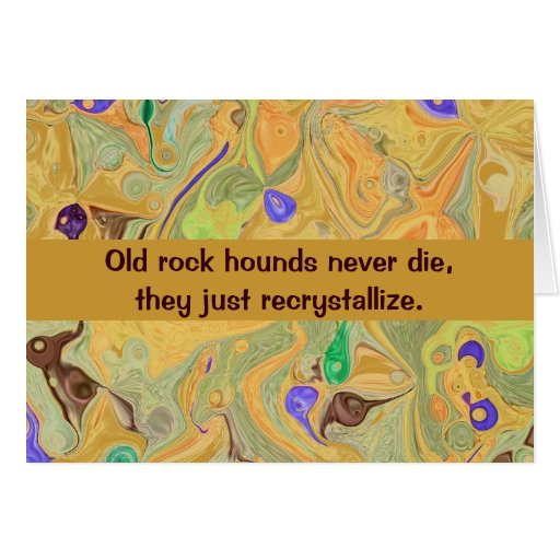 rock hound humor card