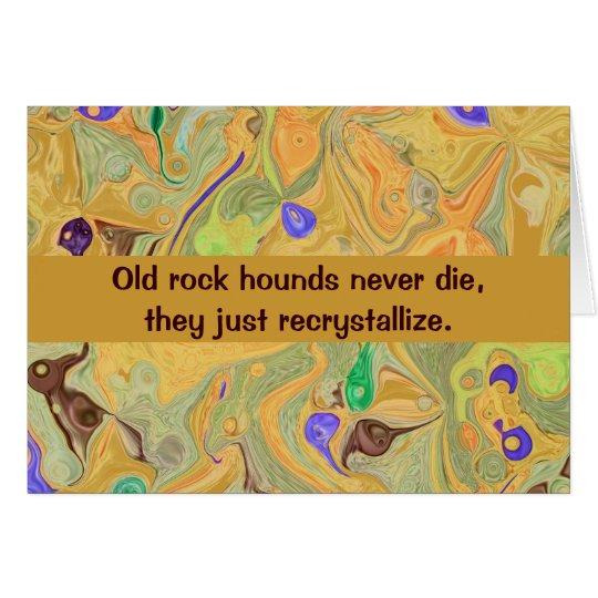 rock hound humour card