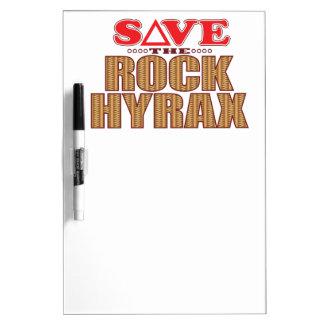 Rock Hyrax Save Dry Erase White Board