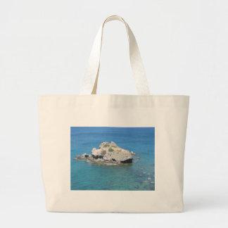 Rock in the Mediterranean Large Tote Bag