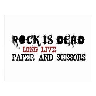Rock Is Dead Postcard