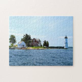 Rock Island Lighthouse, New York Jigsaw Puzzle