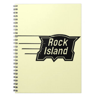 Rock Island Railroad Speed Logo Notebooks