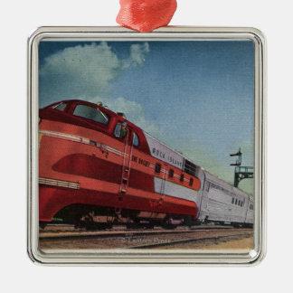 Rock Island RocketStreamlined Train Christmas Ornament