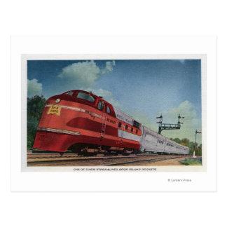 Rock Island RocketStreamlined Train Postcard