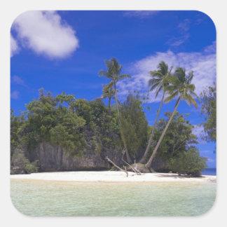 Rock Islands Palau Square Sticker