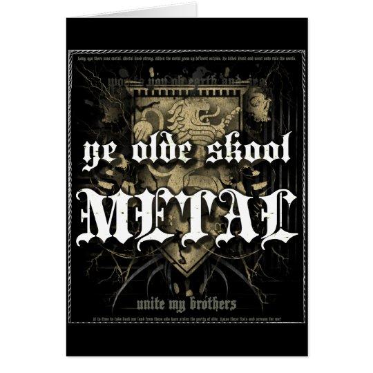 Rock=Life 'Ye Olde Skool Metal' Greeting Card