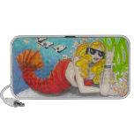 Rock Lobster Mermaid fantasy art Speakers