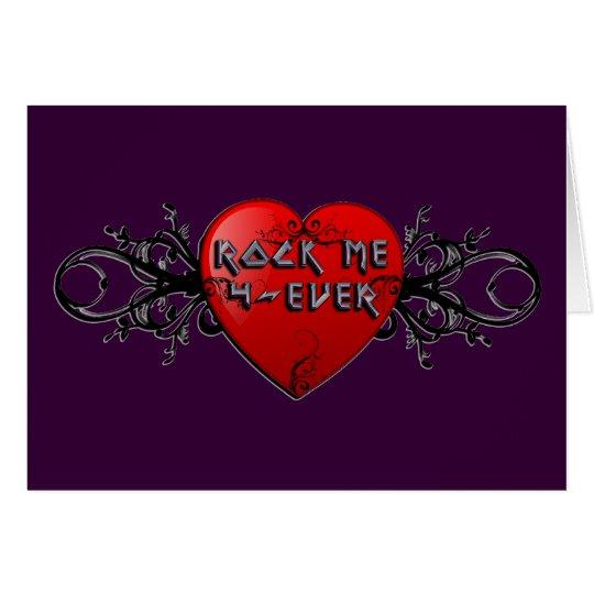 Rock Me Forever Custom Valentine Card