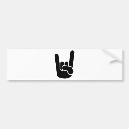 Rock Metal Hand Bumper Sticker