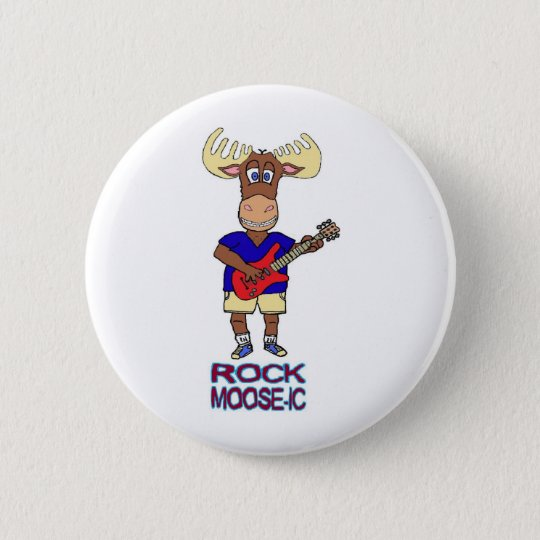ROCK MOOSE-IC 6 CM ROUND BADGE