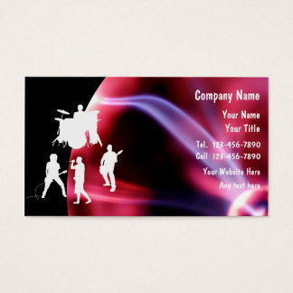 Rock Music Business Cards