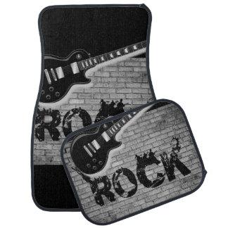 Rock music floor car mats