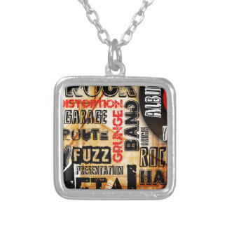 Rock Music Grunge Silver Plated Necklace