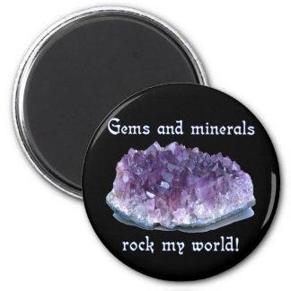 Rock My World 6 Cm Round Magnet