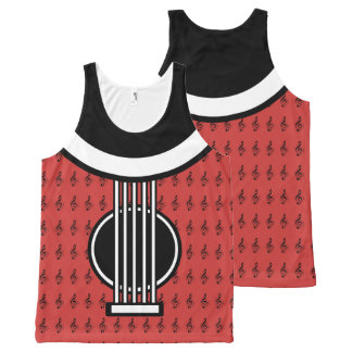 Rock My World | Guitar/Musical Notes Tank Top