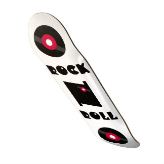 ROCK N ROLL 45 RPM VINYL RECORD SKATEBOARD